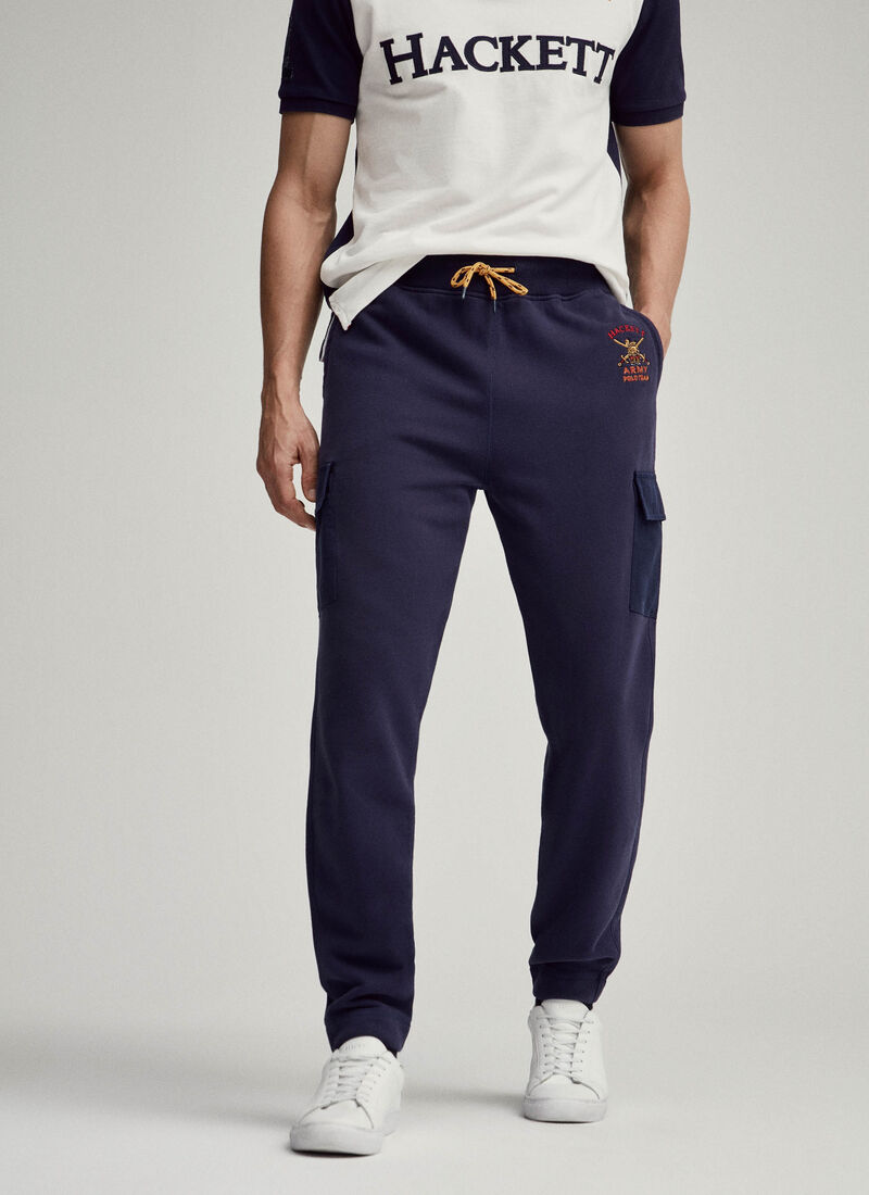Army Polo Detail Brushed Cotton Joggers by Hacket