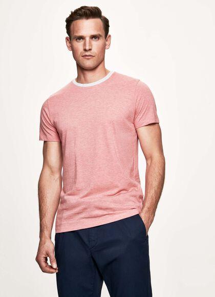 0dde64f50 Fine stripe cotton and silk t-shirt, CRIMSON, large