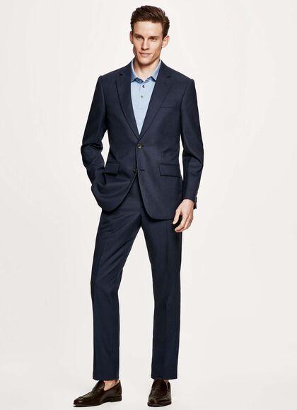 5c31dc4df Twill Wool Suit, STONE BLUE, large. Hackett Mayfair