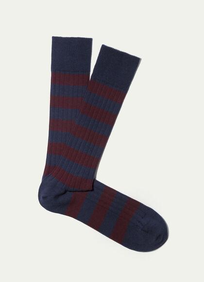 d967c418c7121 Striped stretch cotton-blend socks, PLUM, large