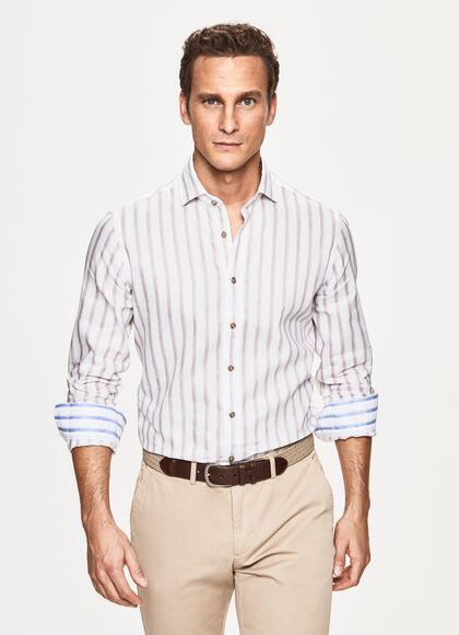 Hackett London Painted Str HC Camisa para Hombre