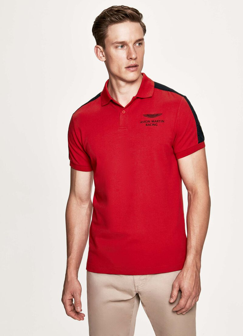 Shoulder Panel Short Sleeve Polo Shirt by Hacket