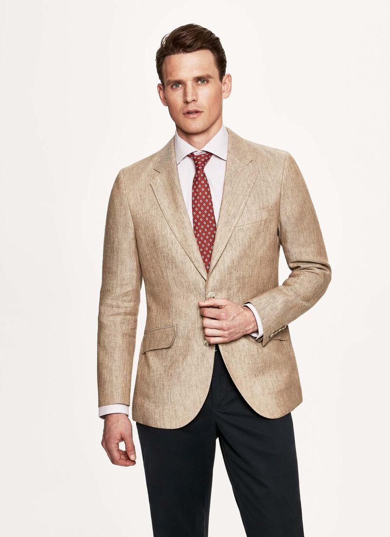 Dèlavè Twill Linen Blazer by Hacket