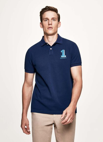 0a599936 New classic cotton short-sleeved polo shirt, INK, large