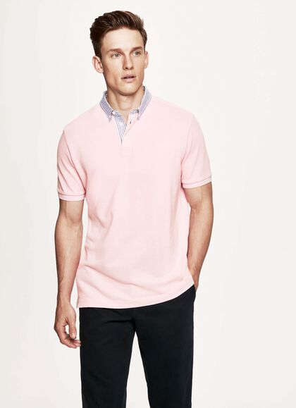 d34047422 Trim short sleeved cotton polo shirt