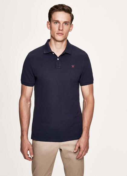 6238c89c Slim fit logo short-sleeve polo shirt, NAVY, large