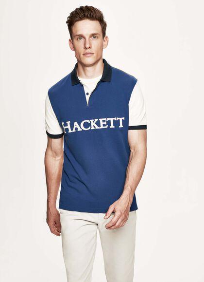 3452b0d9f Multicoloured cotton polo shirt, BLUE/MULTI, large
