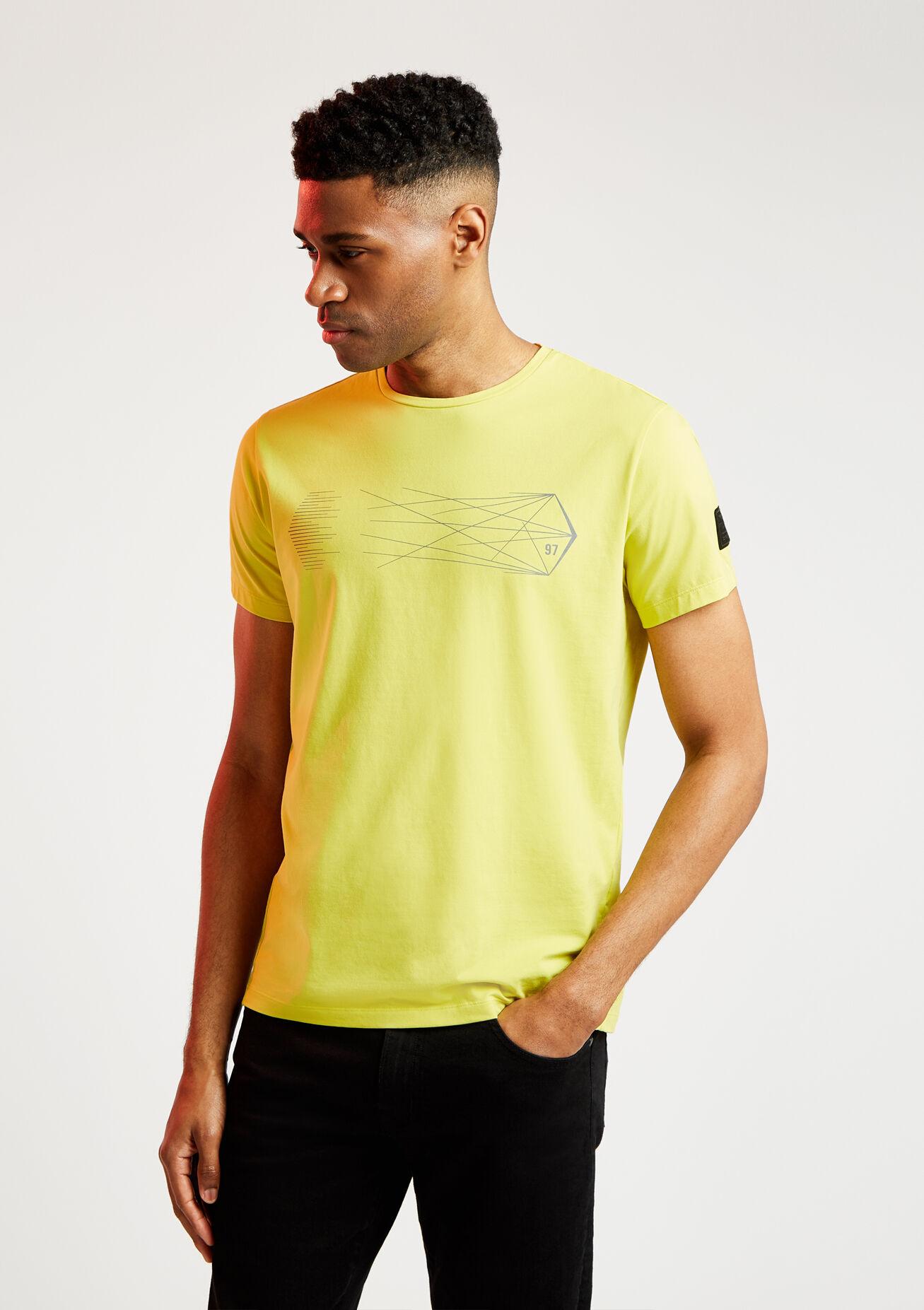aston martin pro men's graphic t-shirt | small | millennium ylw
