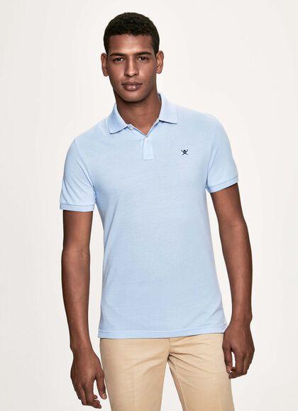 03d80195 Slim fit logo short-sleeve polo shirt, SKY, large