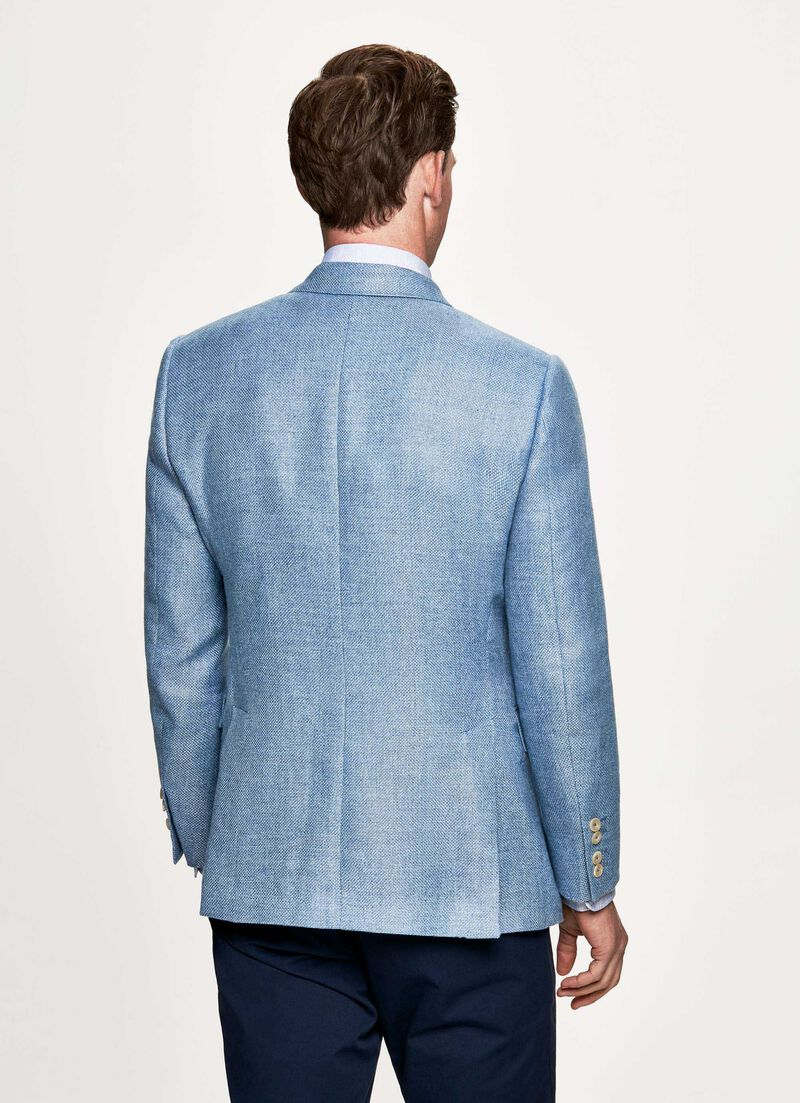 9b7761d116 Hopsack wool and hemp double breasted blazer