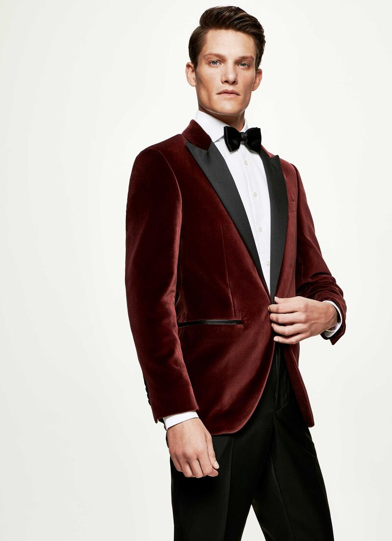Peak Lapel Velvet Jacket by Hacket
