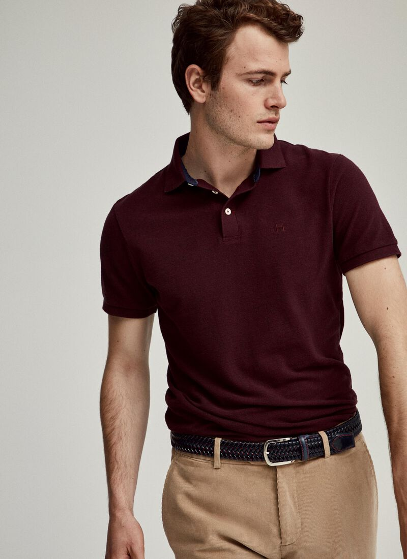 Tonal Cotton Short Sleeved Polo Shirt by Hacket