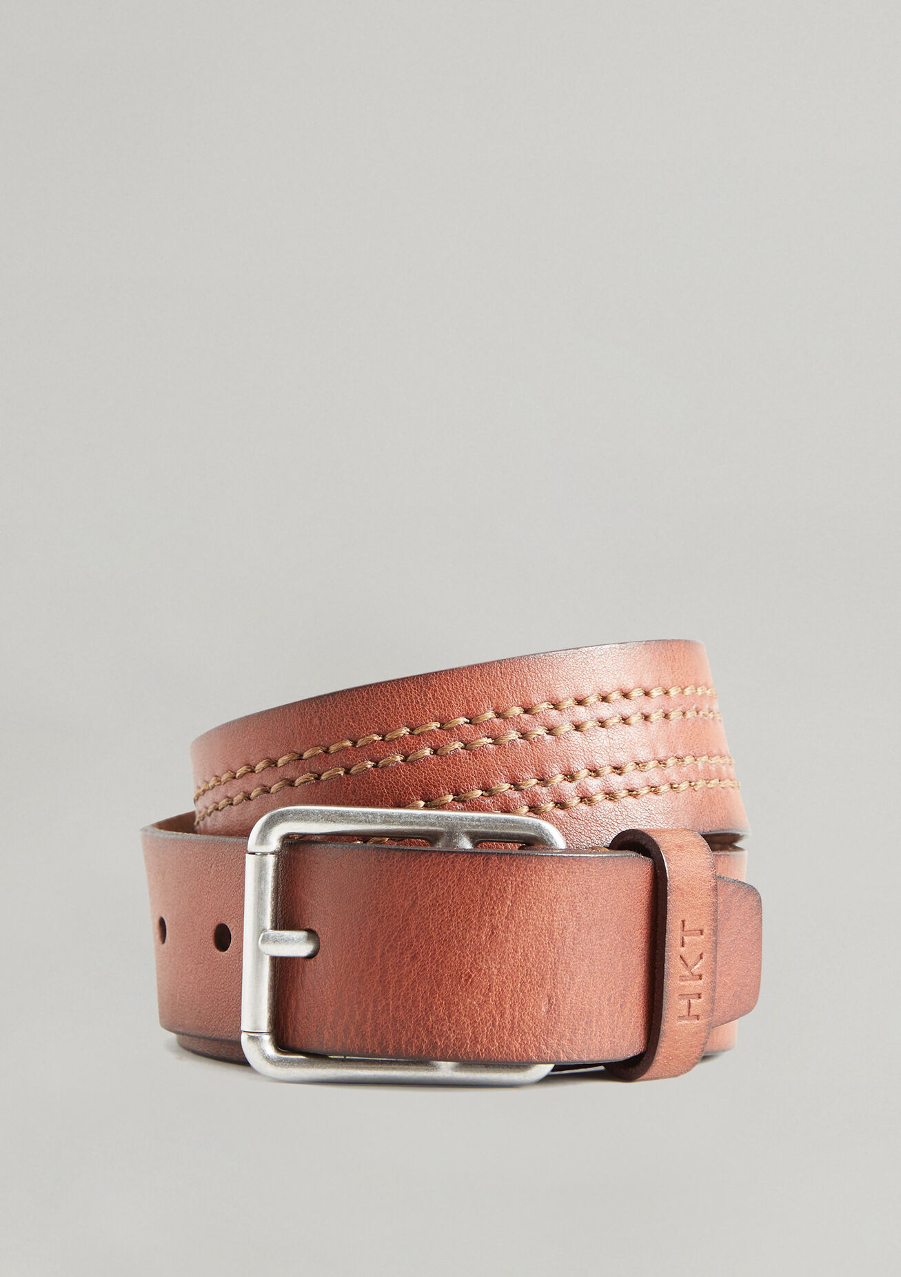 HKT by Hackett London Hkt Punched Belt Cintur/ón para Hombre
