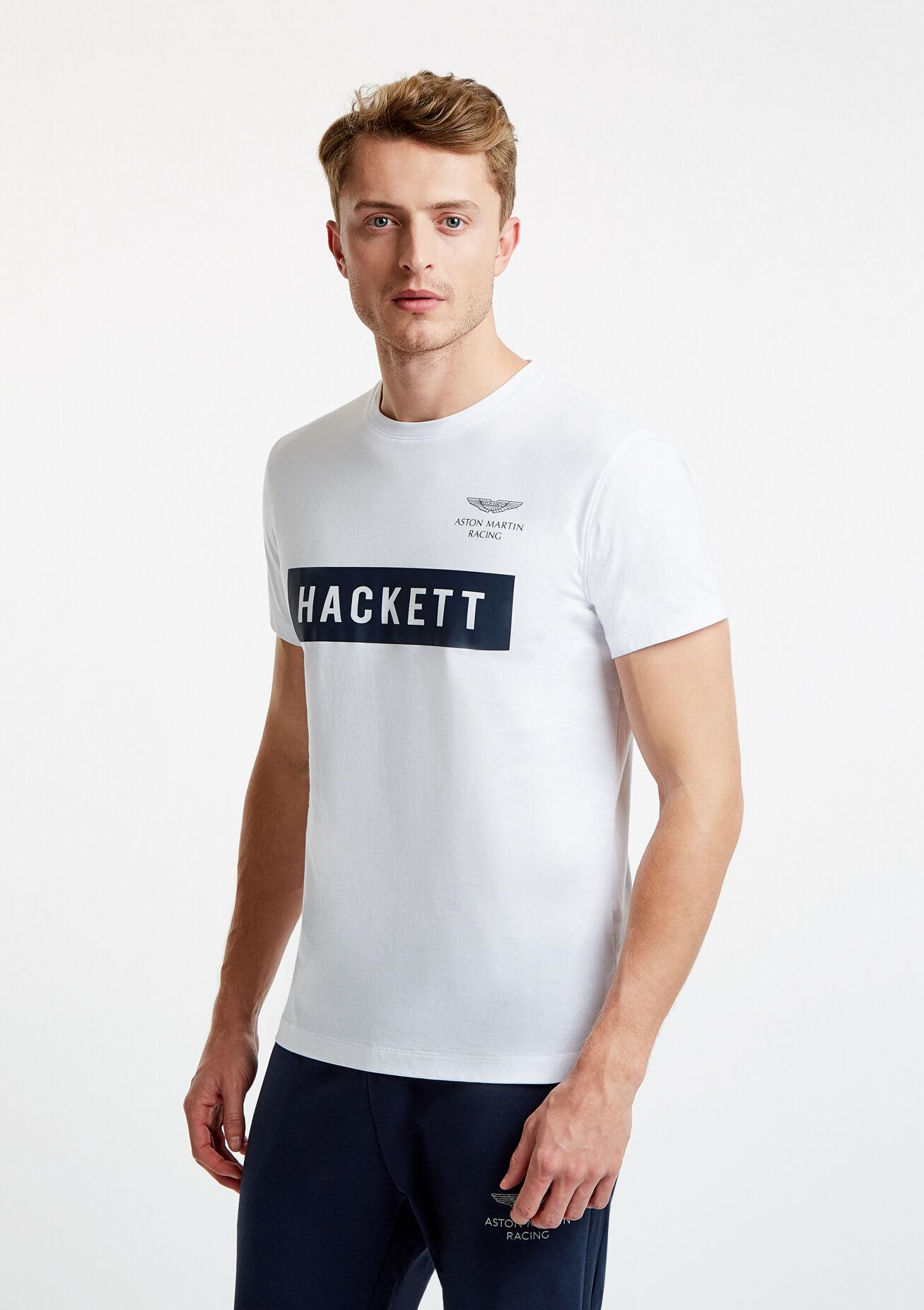 aston martin racing men's logo t-shirt | large | white