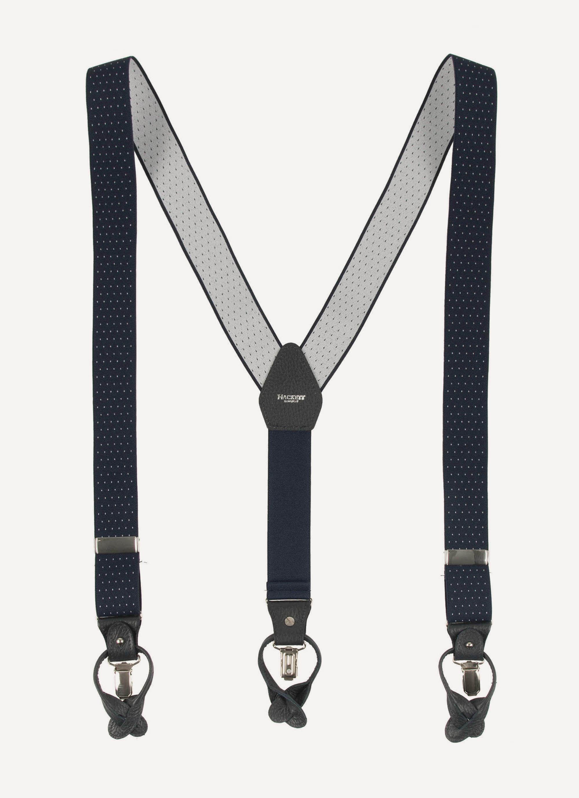 Hackett Mens Woven Parachute Cord Belt Navy