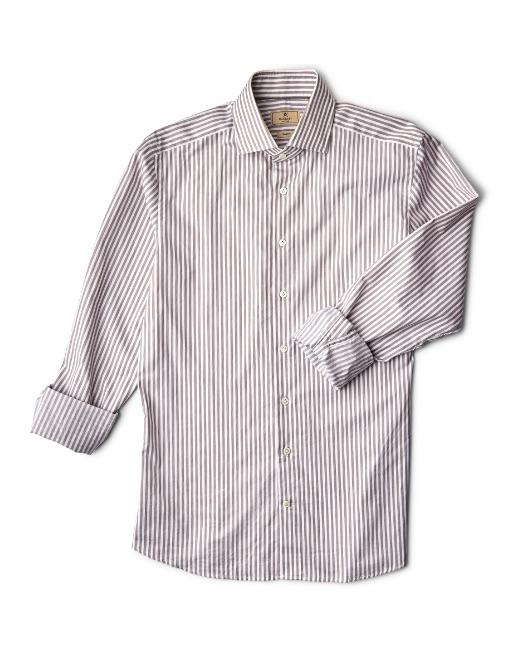 Stripe twill cotton melange shirt