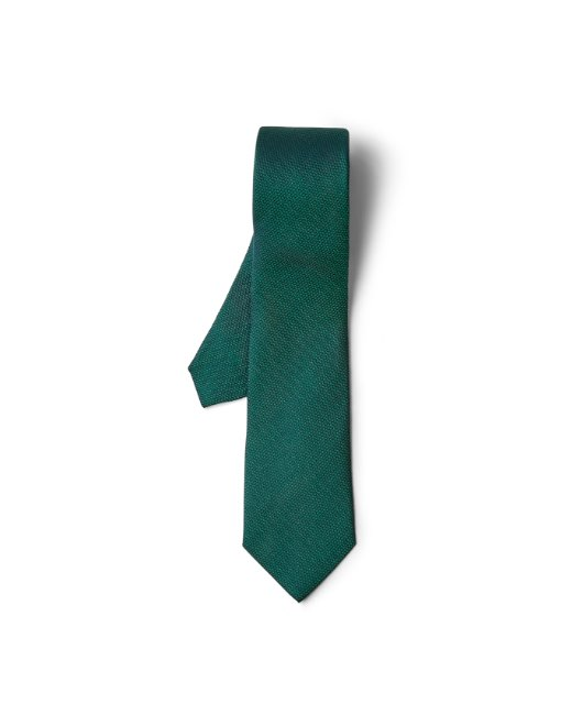 Solid Green Silk Tie