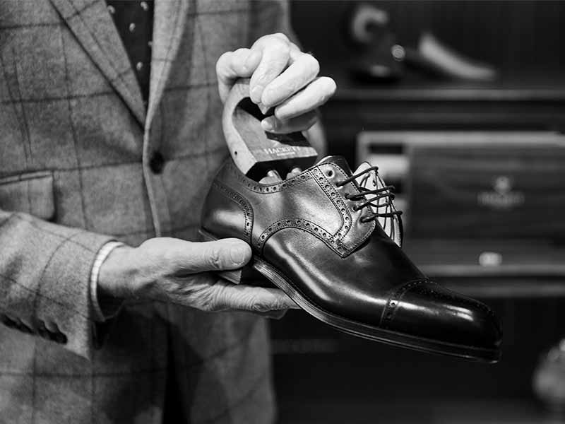 shoe with shoe tree