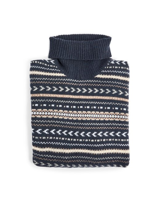 Fair Isle Roll Neck Sweater