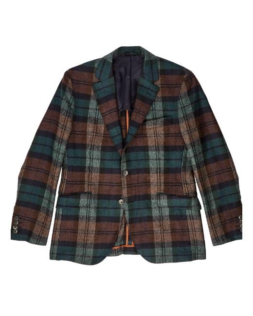 Large Check Wool Blazer