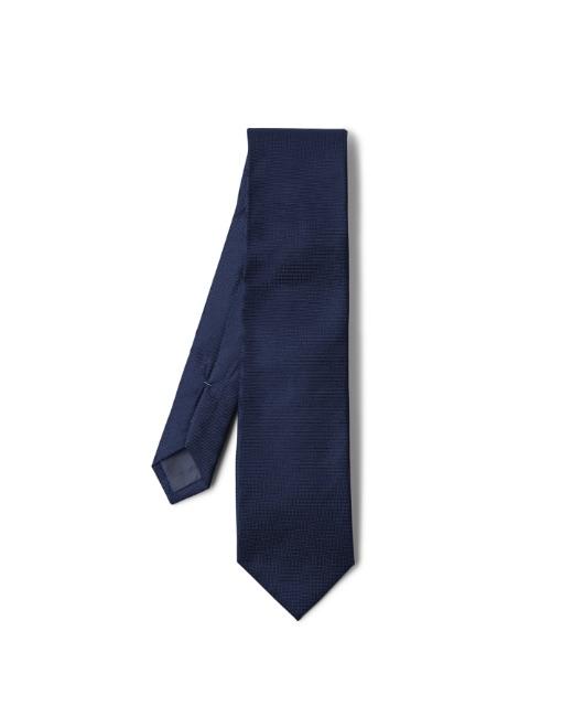 Square navy tie