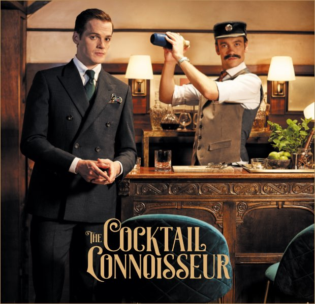 The cocktail connoisseur is one of the 12 gentlemen of christmas wearing Hackett London clothing
