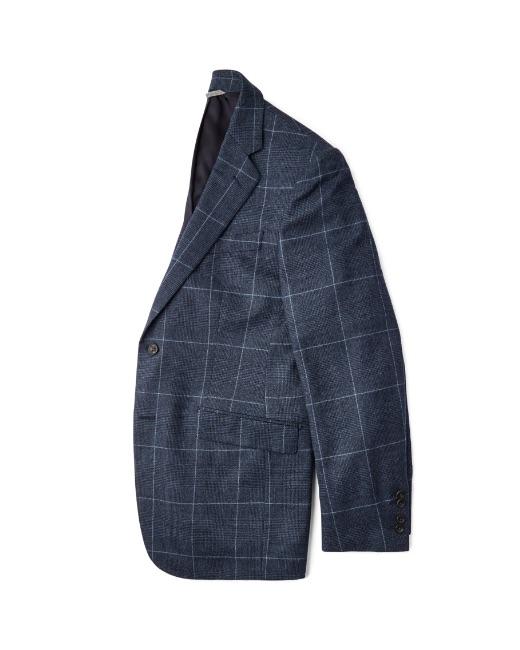Blue Tattersall blazer