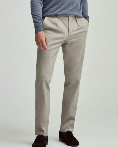 Hackett London Men Wool Trousers