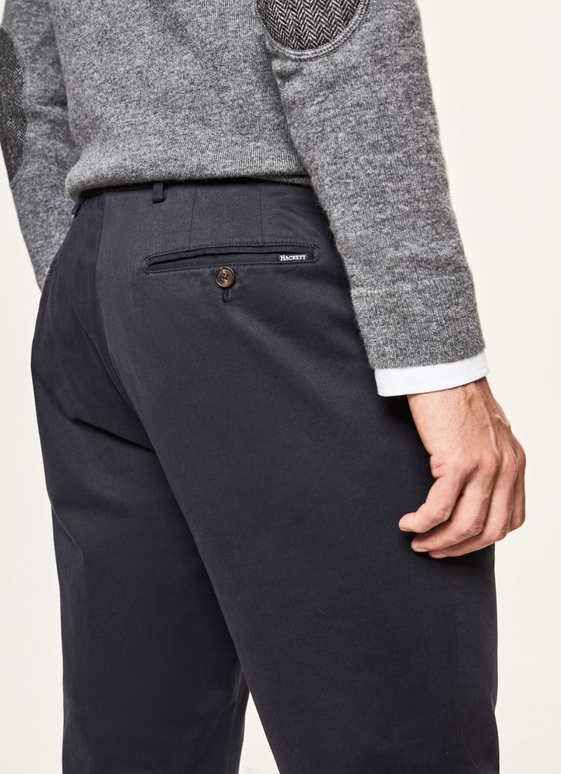 Sanderson Classic Fit Chinos NAVY, large