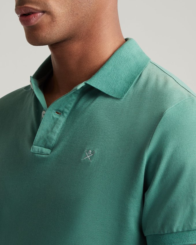Hackett Man Green Polo Shirt