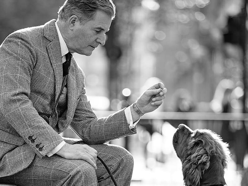 Jeremy Hackett with dog