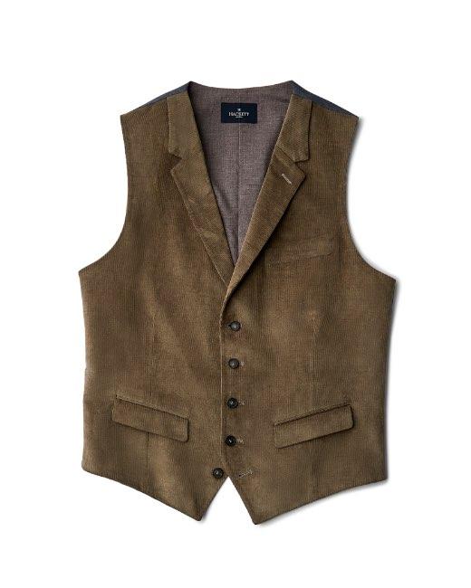 Stretch Cotton Corduroy Waistcoat