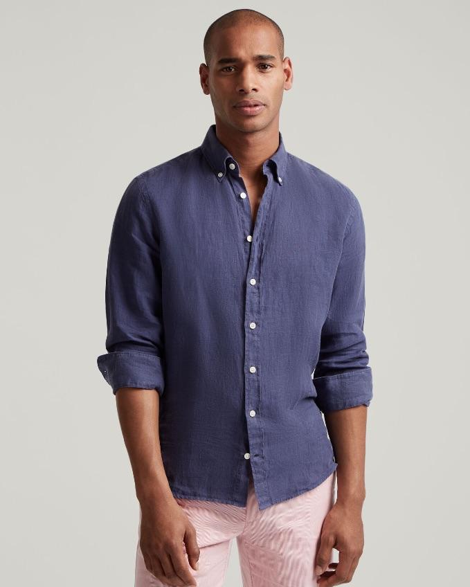 Hackett Man Wearing Causal Shirt