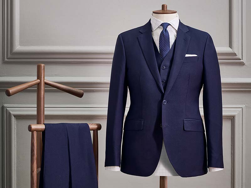 three piece suit on mannequin